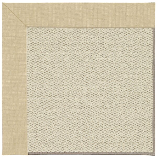 Barrett Linen Machine Tufted Ivory/Beige Area Rug by Highland Dunes