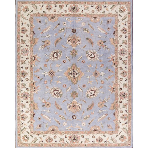 Mccoy Oushak Agra Oriental Hand-Tufted Wool Blue Area Rug by Canora Grey