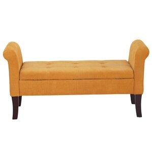 Elbert Upholstered Bench by Alcott Hill