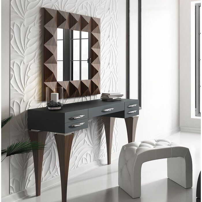 Fallinerlea Bedroom Makeup Vanity Set with Mirror