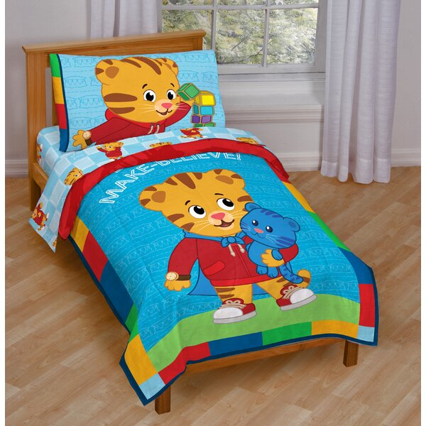 Daniel Tiger 4 Piece Toddler Bedding Set by Disney