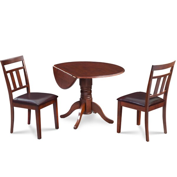 Chesterton 3 Piece Carved Solid Wood Dining Set by Alcott Hill