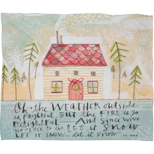 Donmoyer Let It Snow Fleece Polyester Throw Blanket by Brayden Studio