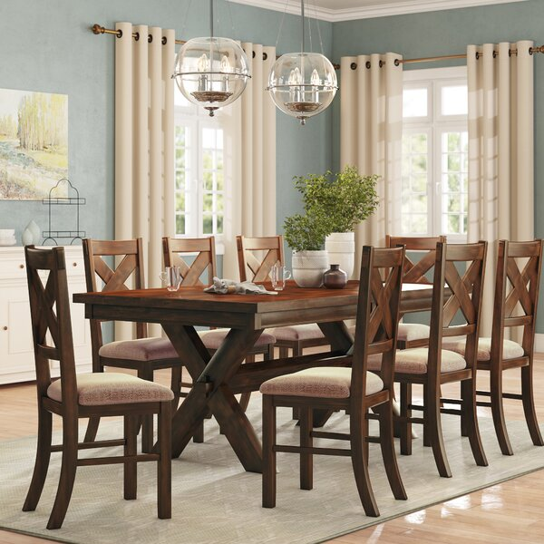 Warsaw 9 Piece Extendable Dining Set by Alcott Hill