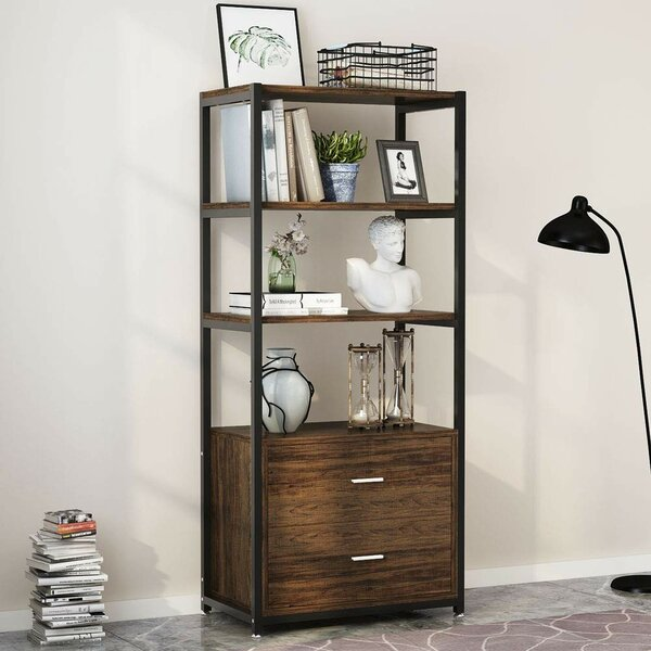 Suttle 4-Tier Standard Bookcase by Williston Forge
