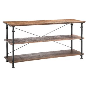 Urban Natural Poplar and Iron Console Table by Stein World