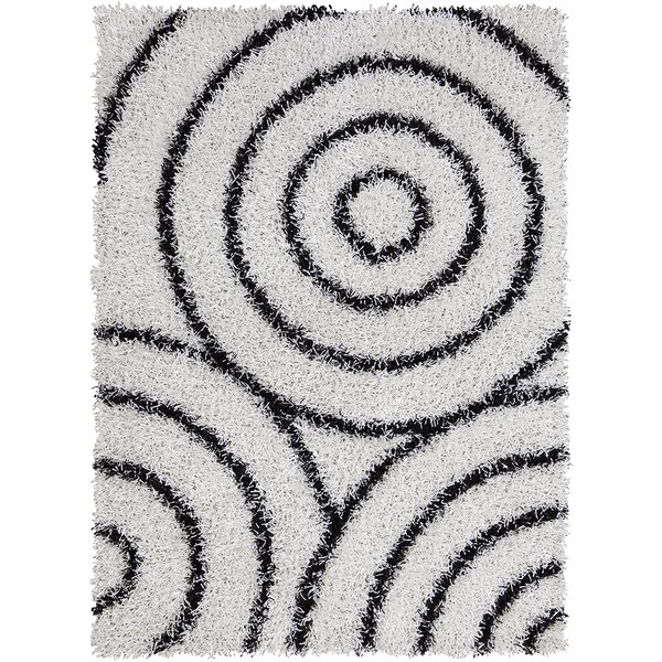 Deborah White/Black Area Rug by Orren Ellis