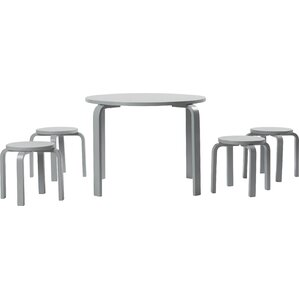 Attractive Anrey Kidsu0027 5 Piece Round Table And Stool Set
