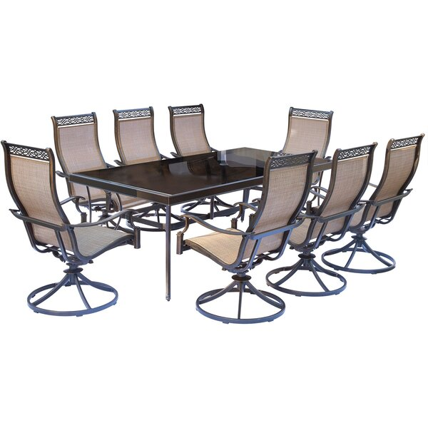 Bucci 9 Piece Dining Set by Fleur De Lis Living