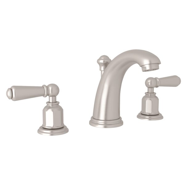 Perrin & Rowe Edwardian High Neck Widespread Lavatory Faucet with Lever Handles by Perrin & Rowe Perrin & Rowe