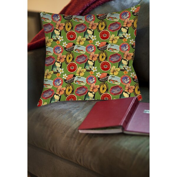 Aloha Printed Throw Pillow by Manual Woodworkers & Weavers