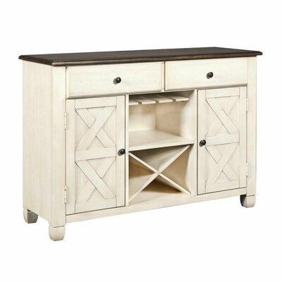 Rosalind Wheeler Mojica 52 Wide 2 Drawer Wood Buffet Table
