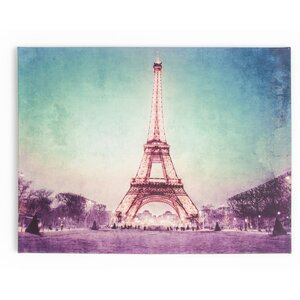 'Paris At Dusk' Photographic Print on Wrapped Canvas by Zipcode Design