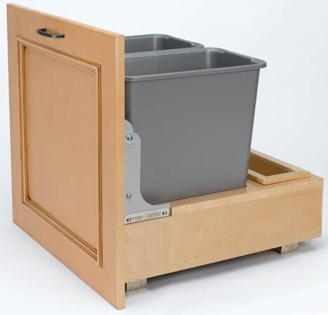 Plastic 7.5 Gallon Pull Out Trash Can by Rev-A-Shelf