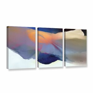 'Embrace 2' by Bassmi Ibrahim 3 Piece Framed Painting Print on Wrapped Canvas Set by Wade Logan