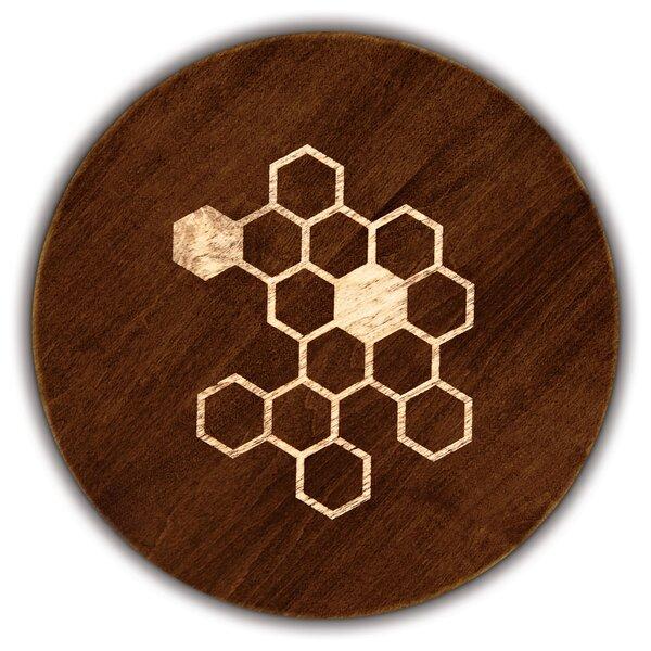 Artisan Woods Honeycomb Round Serving Platter by Martins Homewares