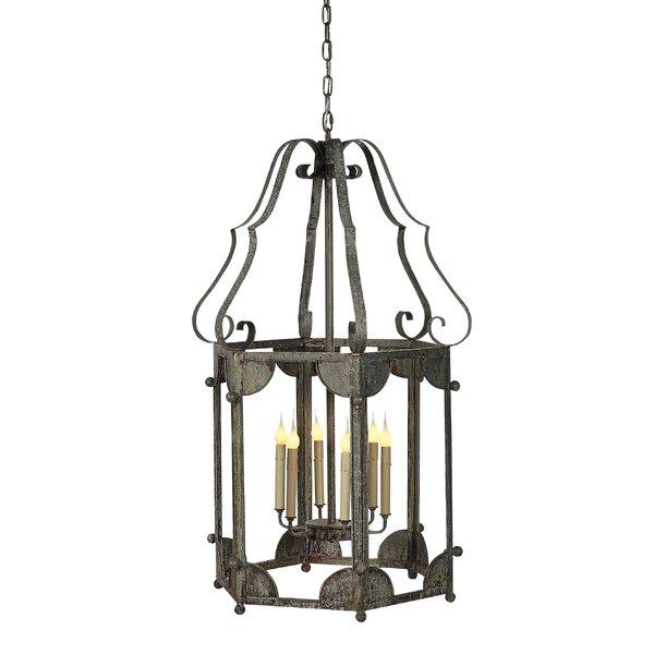 Wilmington 6 - Light Lantern Geometric Chandelier By Ellahome