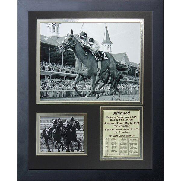 Affirmed 1978 Triple Crown Winner Framed Memorabilia by Legends Never Die