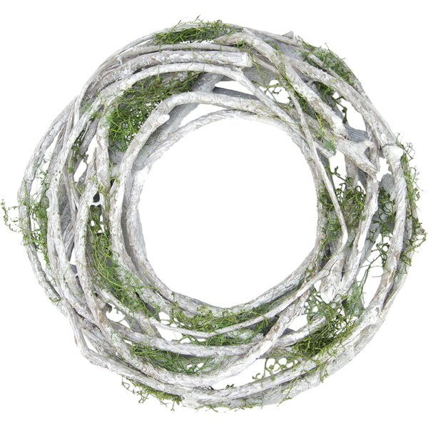 Twig and Moss Artificial Spring Wreath by Gracie Oaks
