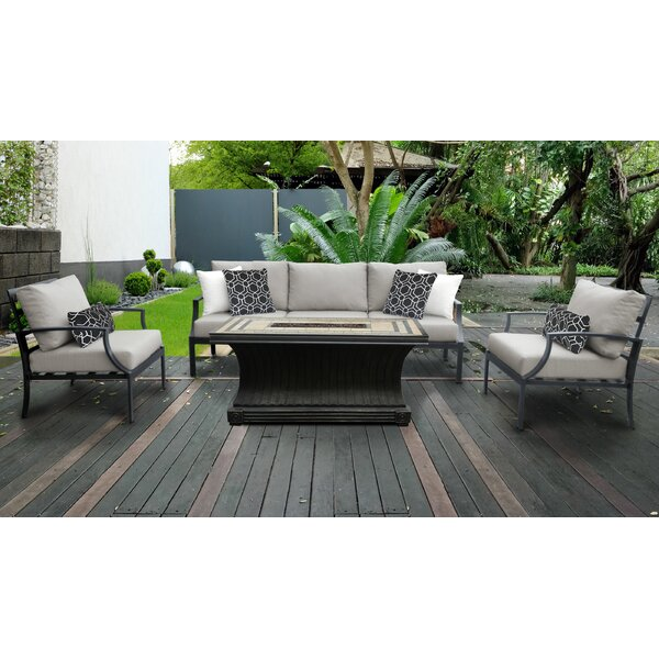Benner Outdoor 6 Piece Sectional Seating Group with Cushions by Ivy Bronx