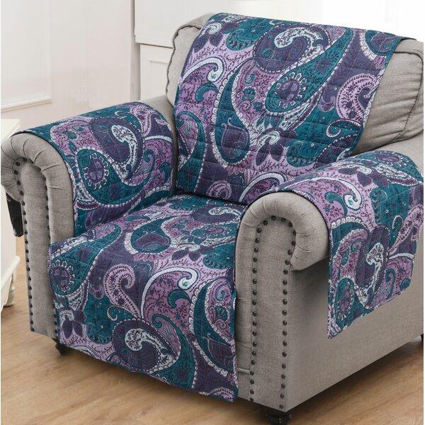 Paisley Box Cushion Slipcover by Red Barrel Studio