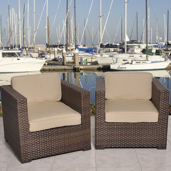 Aventura Arm Chair with Cushion (Set of 2) by International Home Miami