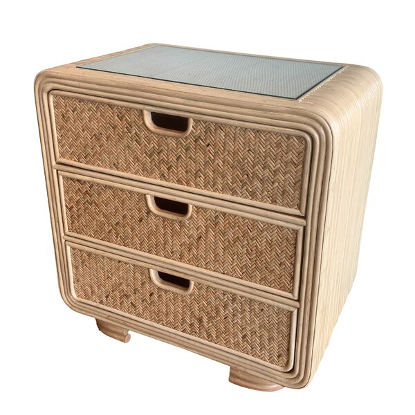 Armory Rattan 3 Drawer Bachelors Chest by Bayou Breeze