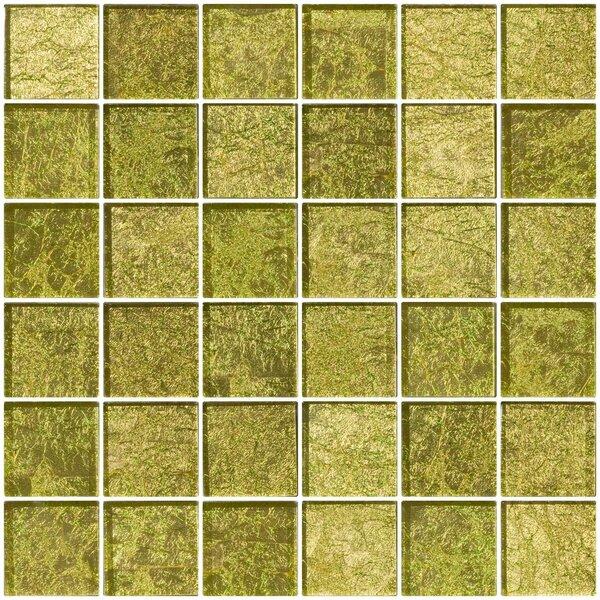 2 x 2 Glass Mosaic Tile in Golden Dew by Susan Jablon