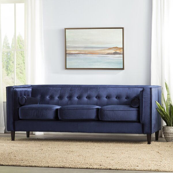 Fine Navy Blue Sofa Wayfair Dailytribune Chair Design For Home Dailytribuneorg