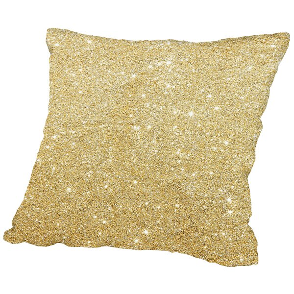 Shiny Sparkley Polyester Throw Pillow by East Urban Home
