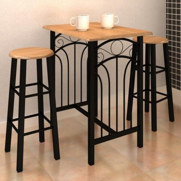 3 Piece Pub Table Set by VidaXL