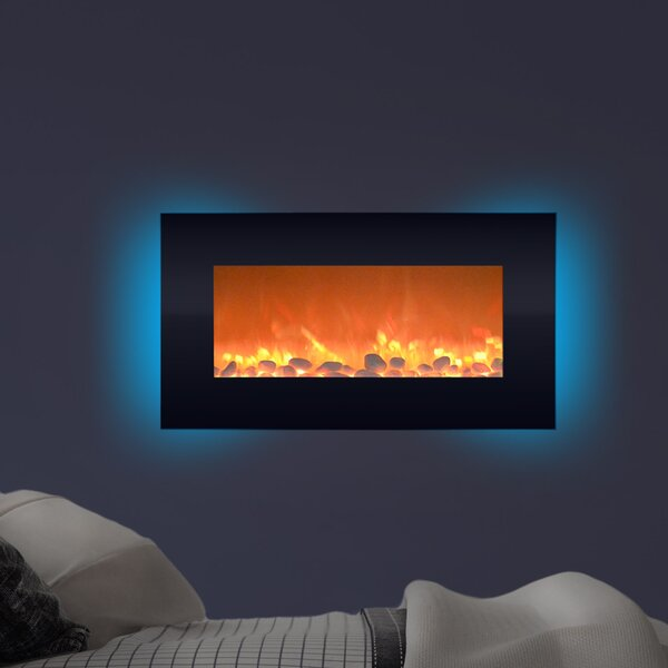 Hyler Wall Mounted Electric Fireplace by Orren Ell