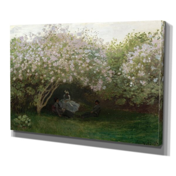 Lilacs Gray Weather by Claude Monet Print of Painting on Wrapped Canvas by Wexford Home