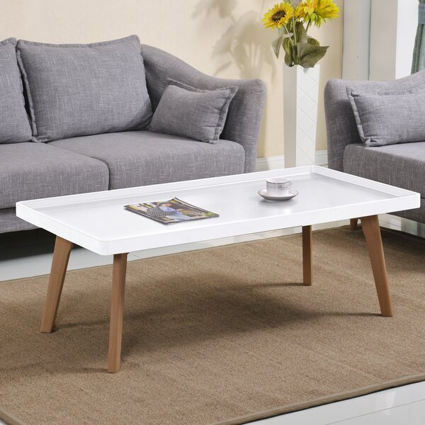 Simmerman Raised Edge Coffee Table by Wrought Studio