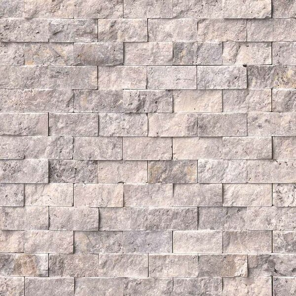 1 x 2 Travertine Splitface Tile in Gray by MSI