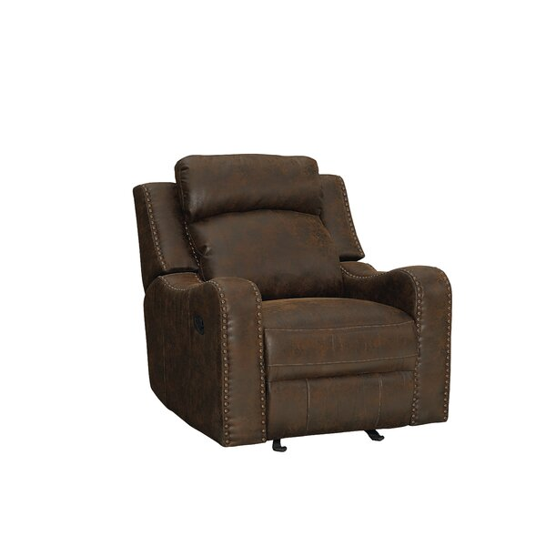 Candida Curved Track Arms Glider Recliner by Williston Forge