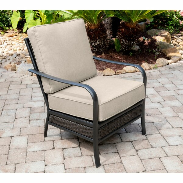 Becerra Commercial-Grade Aluminum/Woven Club Chair with Plush Sunbrella Cushions by Charlton Home