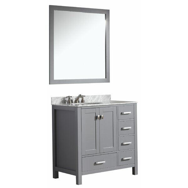 Deanne 36 Single Bathroom Vanity Set With Mirror by Darby Home Co
