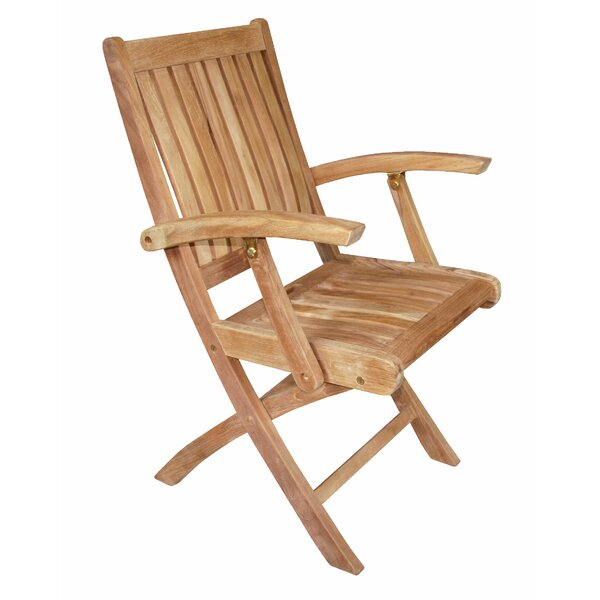 Rosecliff Heights Lowery Folding Teak Patio Dining Chair ...