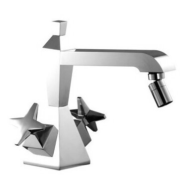 Mp1 Double Handle Horizontal Spray Bidet Faucet with Single Hole by Fima by Nameeks