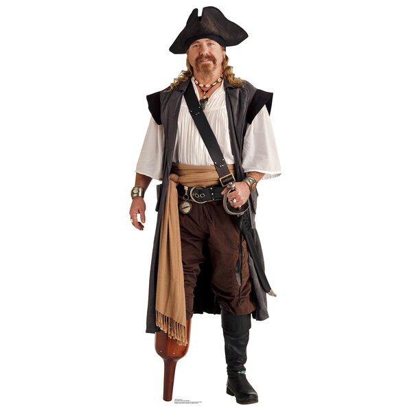 Pirate Peg Leg Life Size Cardboard Cutout Standup by Advanced Graphics