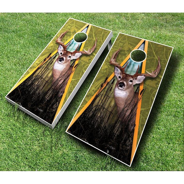 10 Piece Deer Cornhole Set by AJJ Cornhole