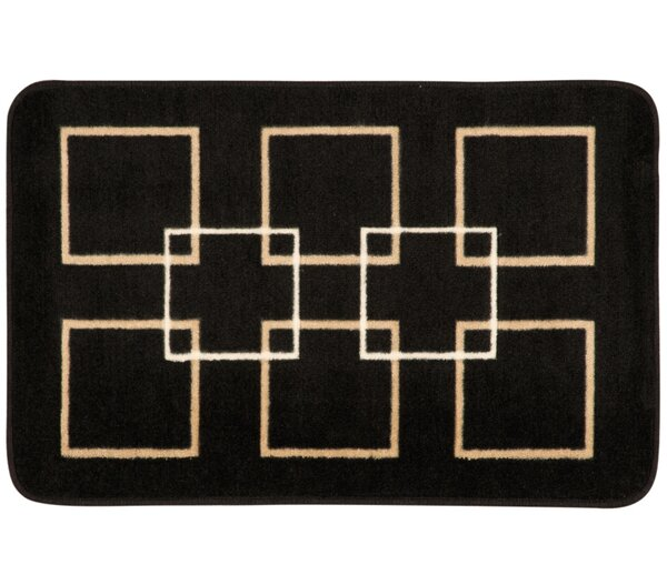 Donelson Black Area Rug by Ebern Designs