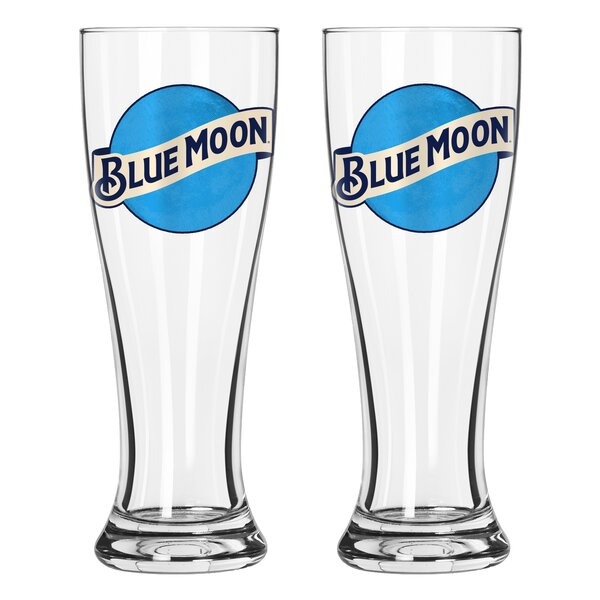 Blue Moon Signature 16 Oz. Pilsner Glass (Set of 2) by Boelter Brands