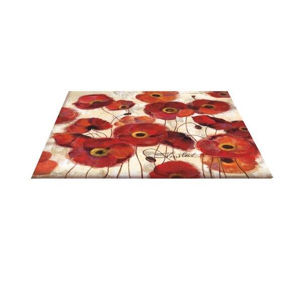 Bold Poppies Red Area Rug by Manual Woodworkers & Weavers