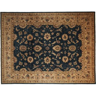 Read Reviews One-of-a-Kind Oushak Hand-Knotted Black Area Rug ByDarya Rugs