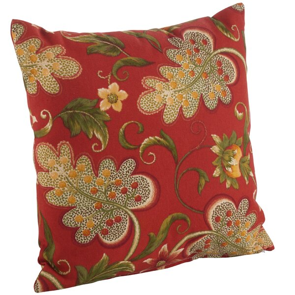Flowering Vine Indoor/Outdoor Throw Pillow by Saro