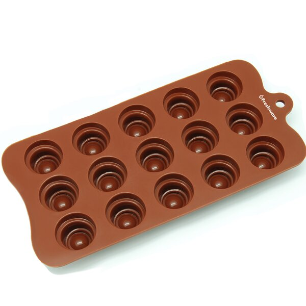 15 Cavity Spiral Cone Silicone Mold Pan by Freshware