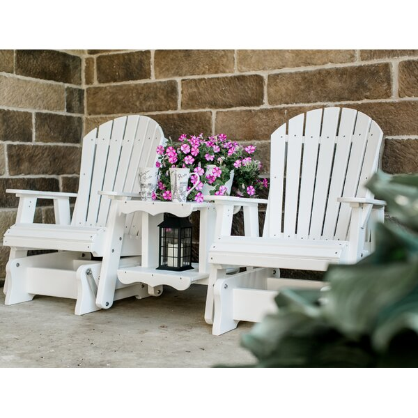 Patricia Plastic Gliding Adirondack Chair by Rosecliff Heights Rosecliff Heights