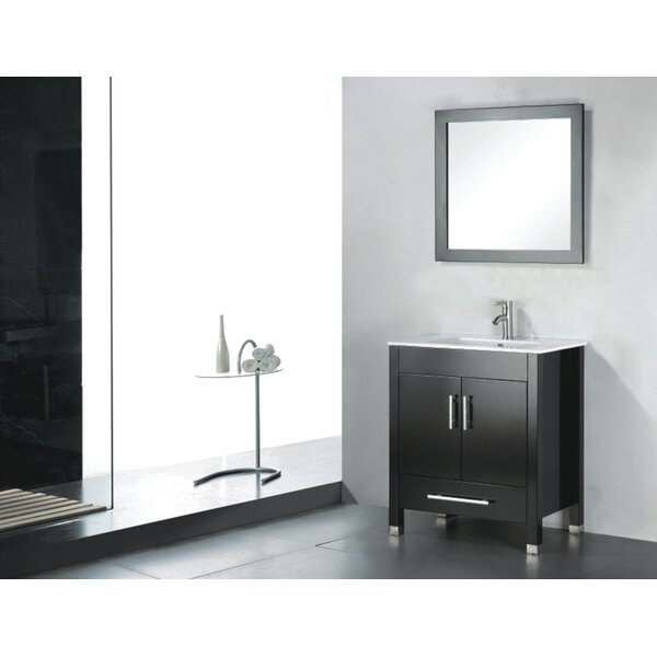 Vidya 24 Single Wood Bathroom Vanity Set with Mirror by Latitude RunVidya 24 Single Wood Bathroom Vanity Set with Mirror by Latitude Run